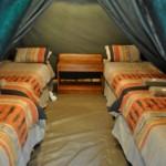 Tent 1 interior