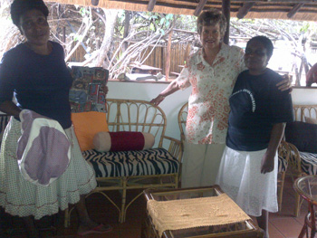 Delina, Gerda and Alice with new upholstered cushions