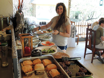 Good lunch spread for guests at Katekani.