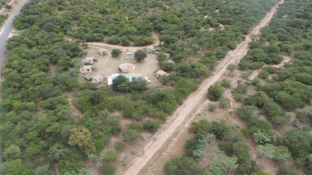 Aerial shot of Masango Camp