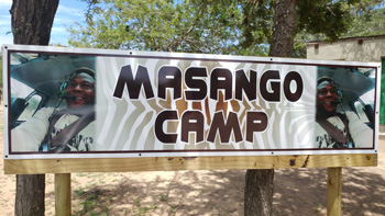 Masango Camp sign.