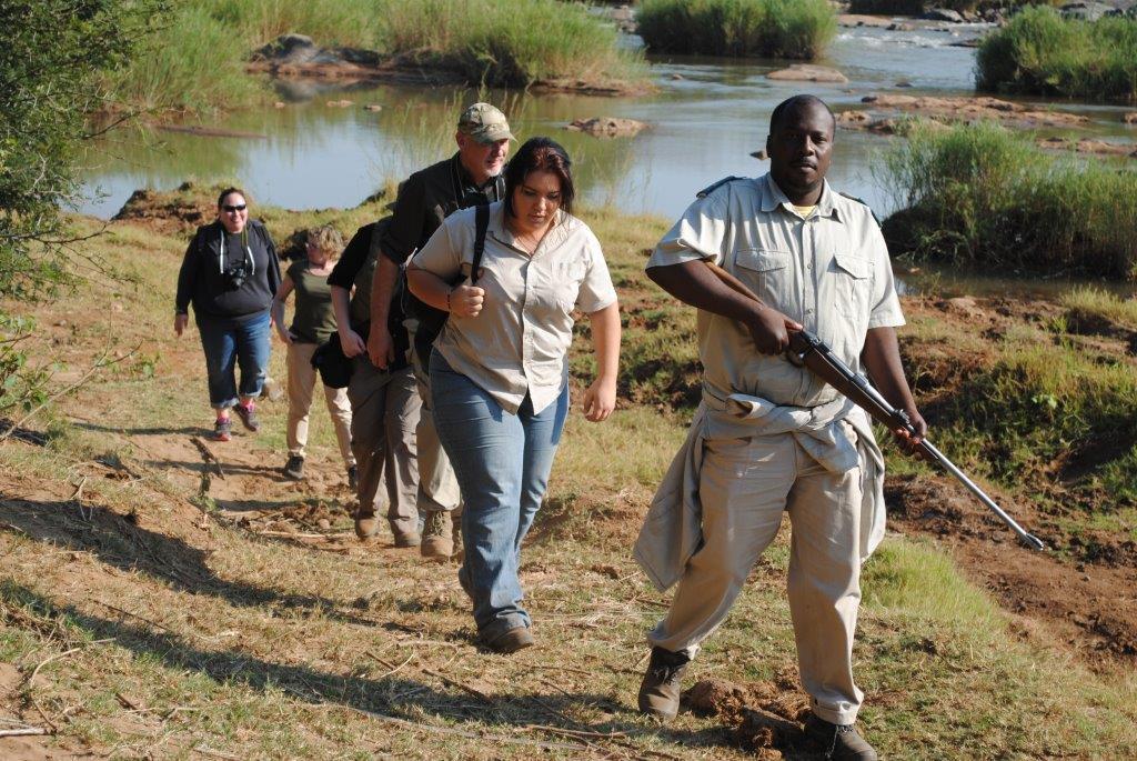 Bush walk with armed ranger