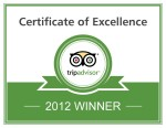 TripAdvisor Certificate of Excellence 2012 - Tremisana Game Lodge