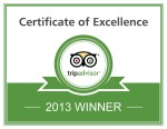 TripAdvisor Certificate of Excellence 2013 - Tremisana Game Lodge