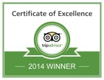 TripAdvisor Certificate of Excellence 2014 - Tremisana Game Lodge