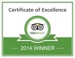 TripAdvisor Certificate of Excellence 2014 - Tremisana Game Lodge
