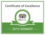 TripAdvisor Certificate of Excellence 2015 - Tremisana Game Lodge