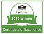 TripAdvisor Certificate of Excellence 2016 - Tremisana Game Lodge