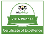 TripAdvisor Certificate of Excellence 2016 - Tremisana Game Lodge