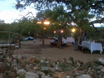 Marula Tree Boma at Sunset