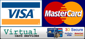 Accepted payment methods: Visa and MasterCard