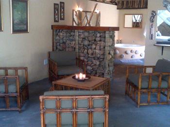 Interior Katekani Tented Lodge.