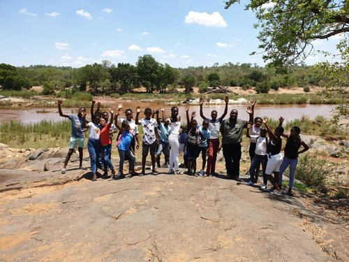 Elias with orphans at Olifants River