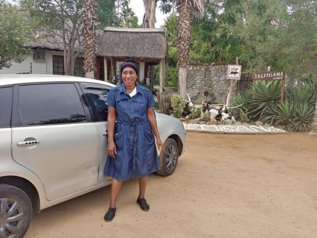 Delina Mnisi and her new VW Polo