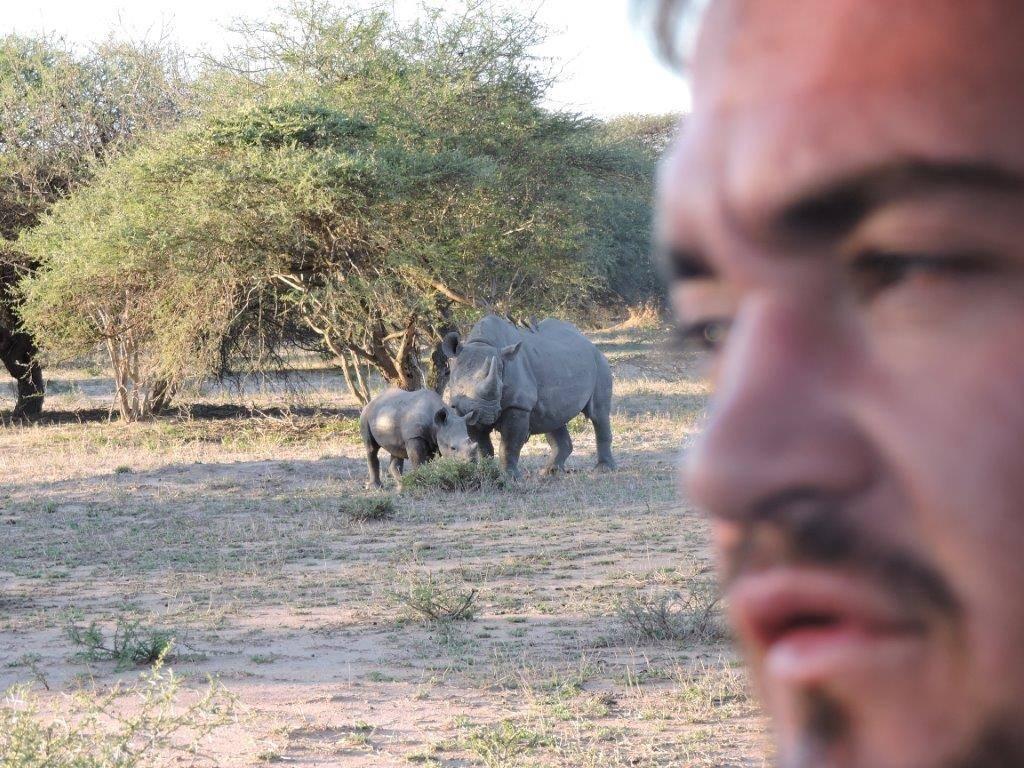 Jordan near Black Rhino