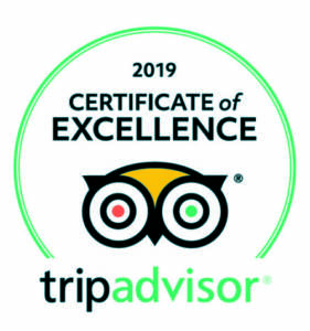 TripAdvisor Certificate of Excellence 2019 - Tremisana Game Lodge